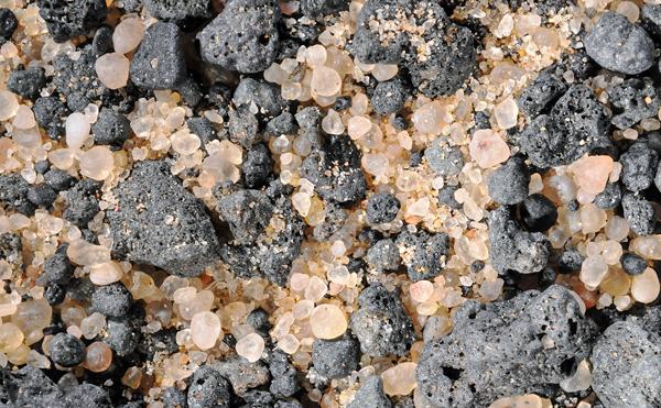 Sable minéral du WAW AN NAMUS en Libye.